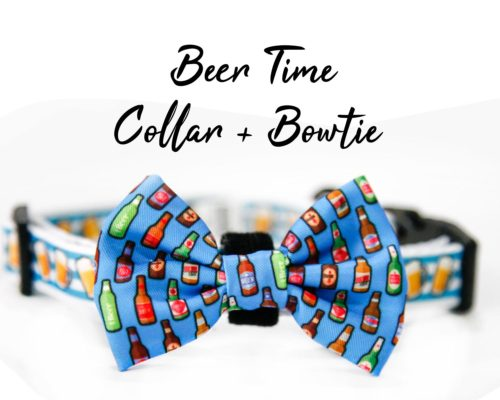 Beer time collar bow