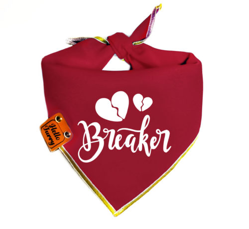 S10 – Dog bandana singapore – Red Heart Breaker